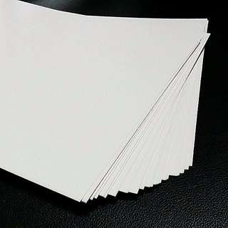 "10pcs 199gsm (110 lb. Index) Neenah  Exact Index Paper White Cardstock,  94 brightness (8.5""×11"")"