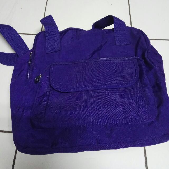紫藍色肩背包
