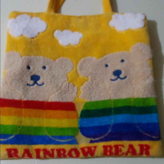 (出清!含運)彩虹熊 手提袋