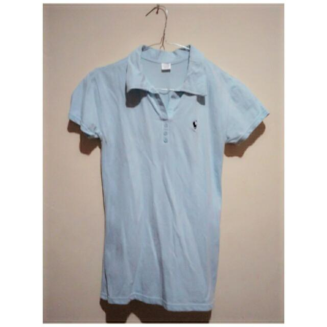 Baby Blue Polo Woman