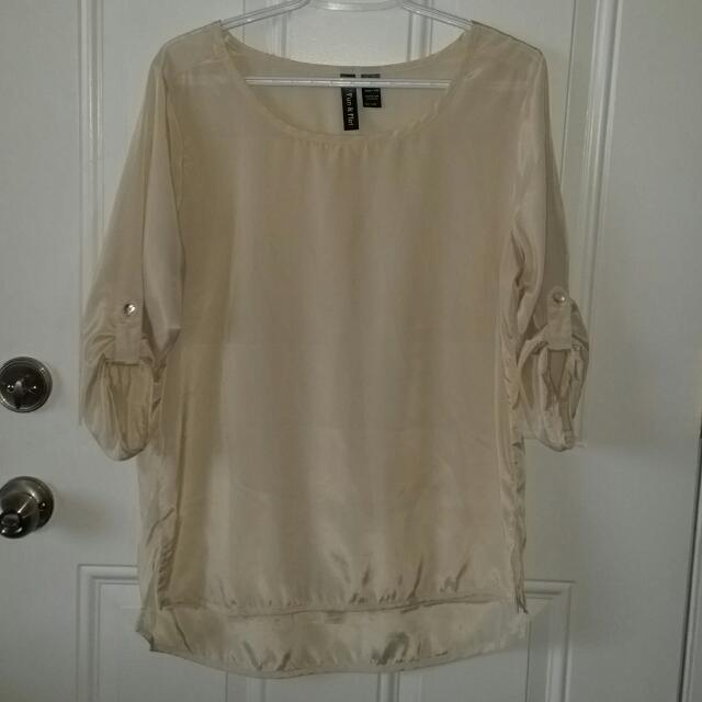 Beige 3/4 Blouse
