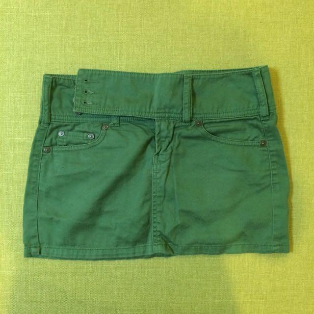 班尼頓Benetton綠色迷你裙 #女裝五折出清
