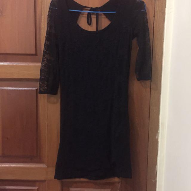 Black Bodycon Lace Dress