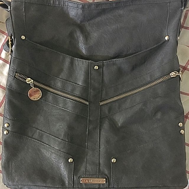 Black Leather Rampage Purse
