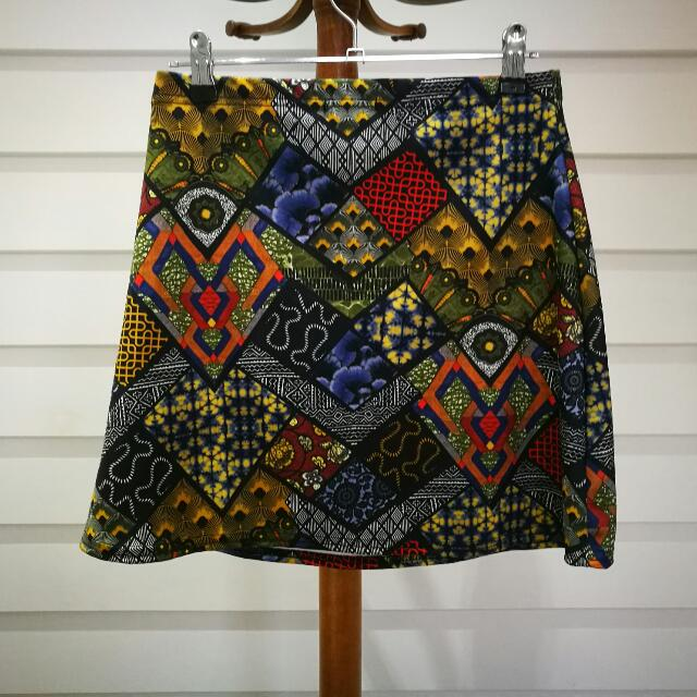 Boohoo African Style Patterned Skirt