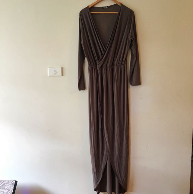 Boohoo Grecian Style Dress