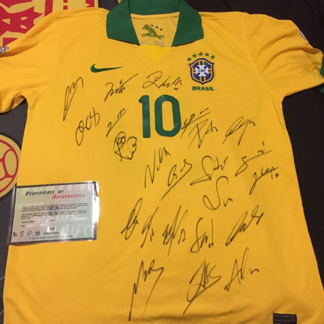 Brazil 2012-13 Fully Signed National team jersey