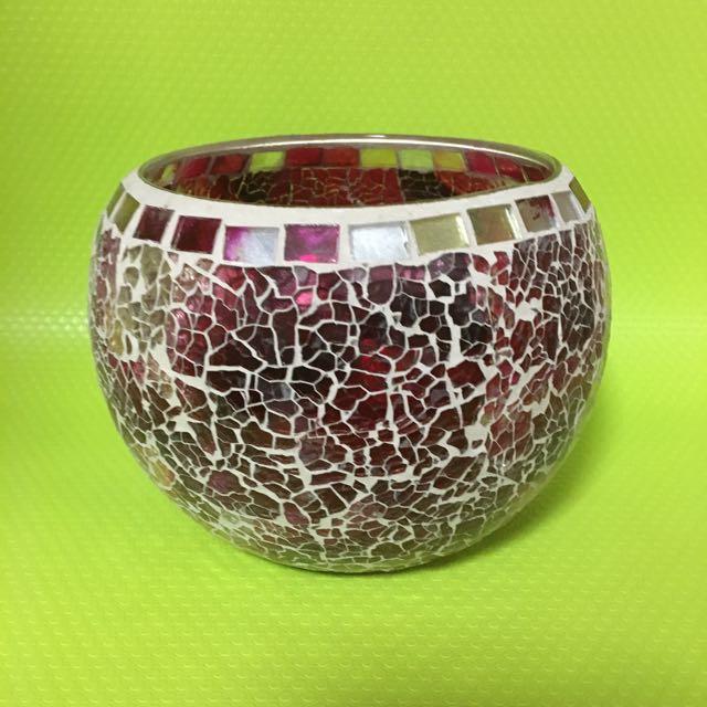 Shattered Glass Effect Vase Gardening On Carousell
