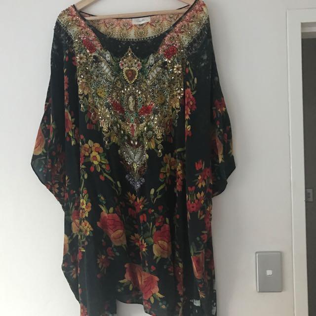 CAMILLA Short Kaftan Dress