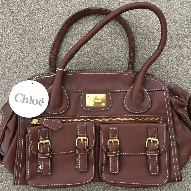'chloe' Brown Handbag