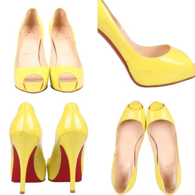 Christian Louboutin Yellow Heels