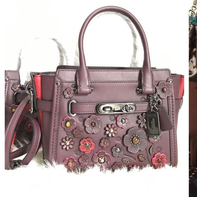 Coach Swagger Willow Flower Burgundy 9df9d49c87