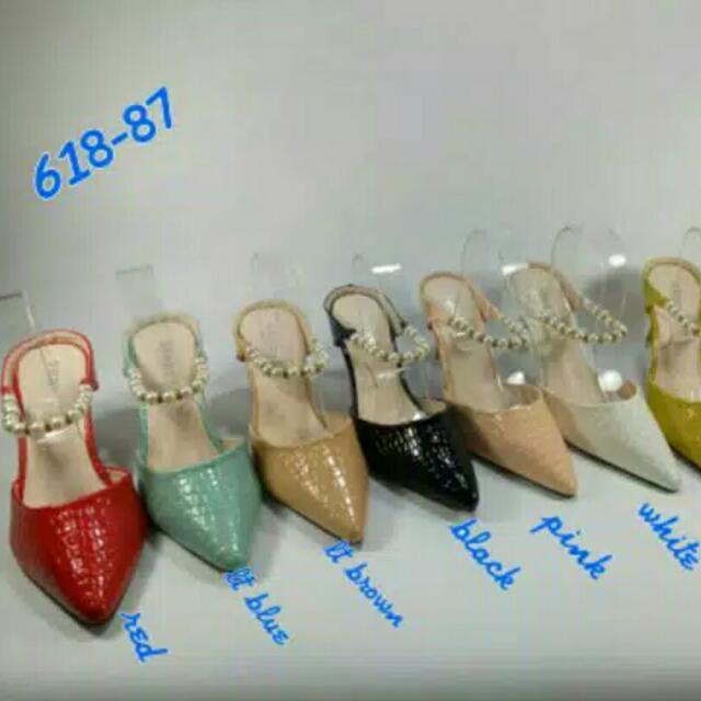 Shoes Heels (Black) / Sepatu Hak