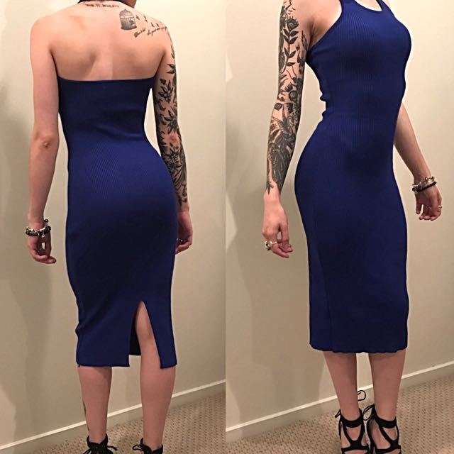 Deep Blue Halter Dress