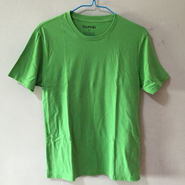 96ee7705a Fourskin Light Green Plain Basic T-shirt, Men's Fashion, Clothes on ...