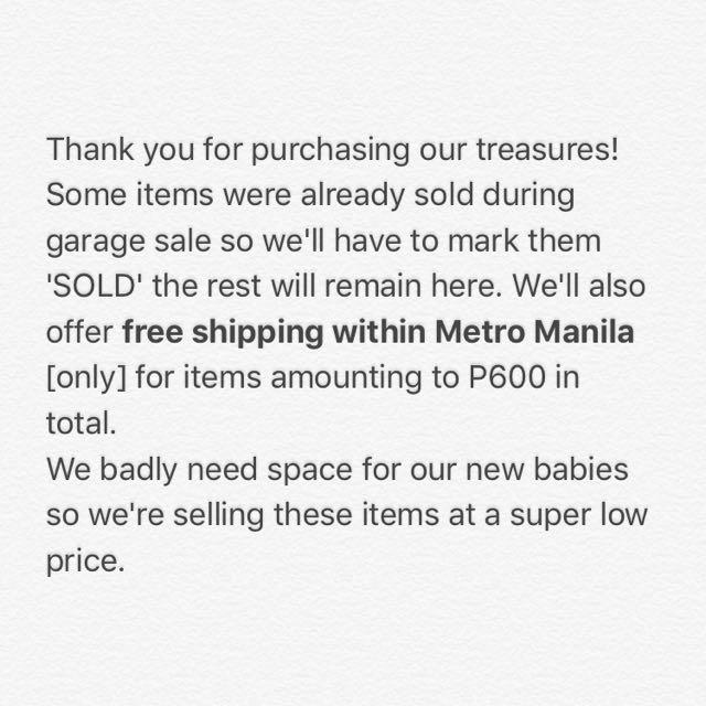 FREE METRO MANILA SHIPPING PROMO