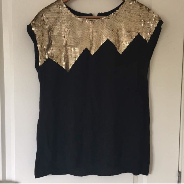 Gold Sparkly Top