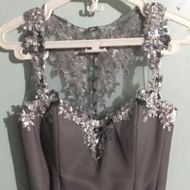 Grey Formal Gown