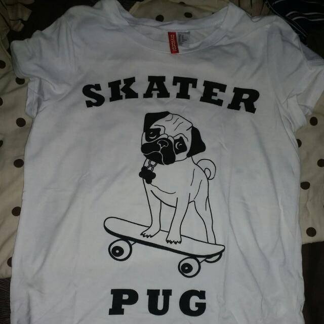 H&M Skater Pug Tee