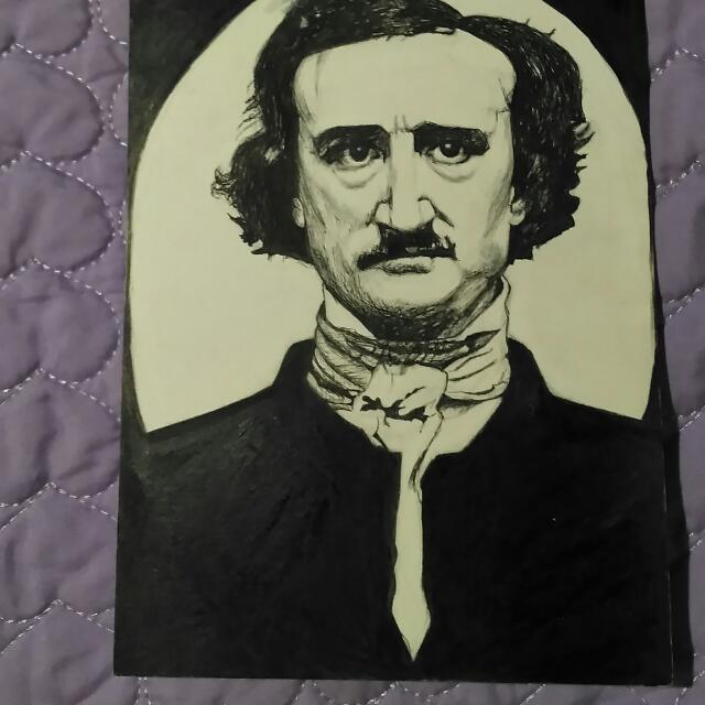 Ink Portrait Of Edgar Allan Poe.