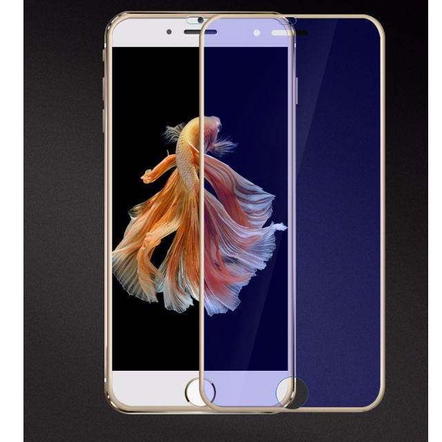 huge selection of f3496 90b46 SALE!! Apple iPhone 6/6S/7 3D Titanium Border Blue Light Screen Protector  in Gold