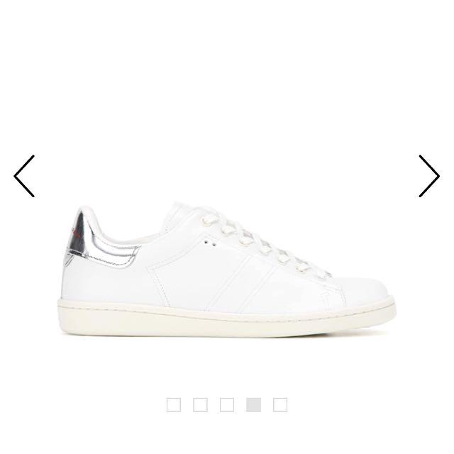 Isabel Marant Étoile 白色皮質球鞋
