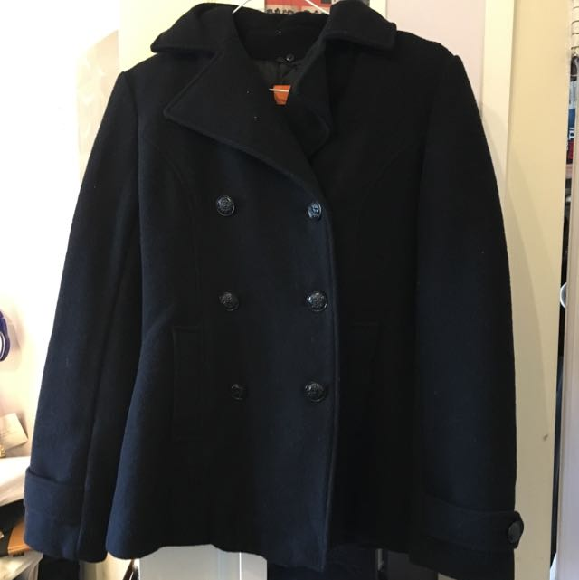 Joe Fresh XS Black Lapelled Coat