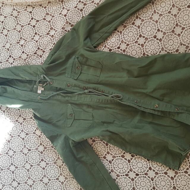 Khaki Jacket Boho
