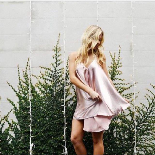 Lana Boutique Pink Silk Dress