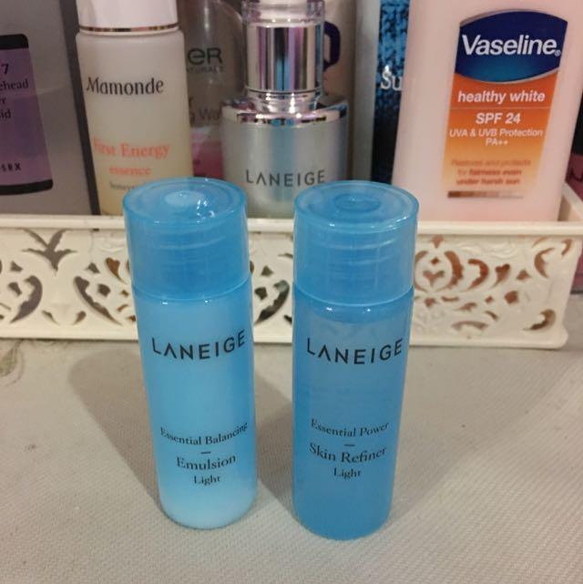 Laneige Essential Balancing Emulsion (light) & Essential Power Skin Refiner (light)