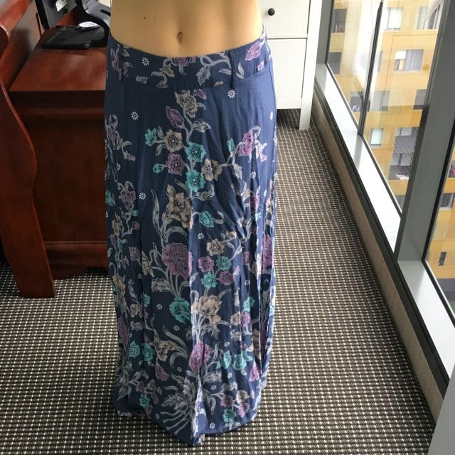 Long Floral Skirt Size 12