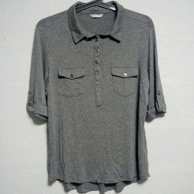 Marks And Spencer grey Shirt Top
