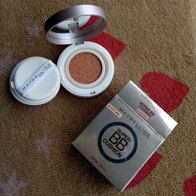 (REPRICE) Maybelline Super BB Cushion (Shade 03: Natural), Health & Beauty, Makeup on Carousell