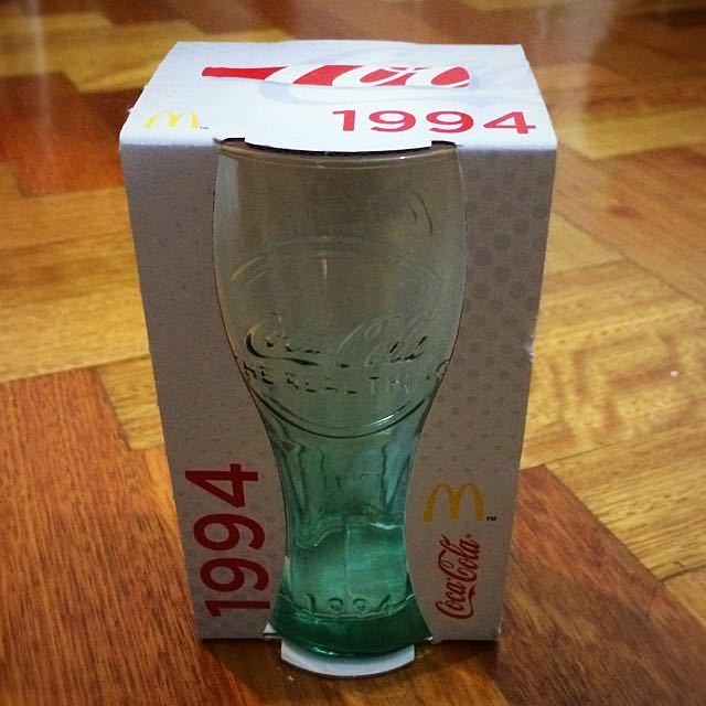McDonalds Coca Cola Collectible Glass 1994