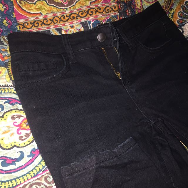 Miss Shop Black Denim Skinny Jeans
