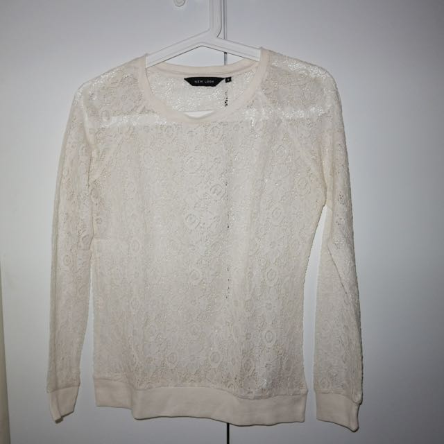 New Look lace sweater