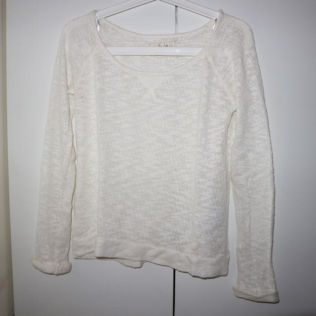 NEW LOOK white knit sweater