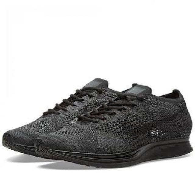 Nike Flyknit Racer 'Triple Black' Size US 9.5 (BNIB) DS Dead stock
