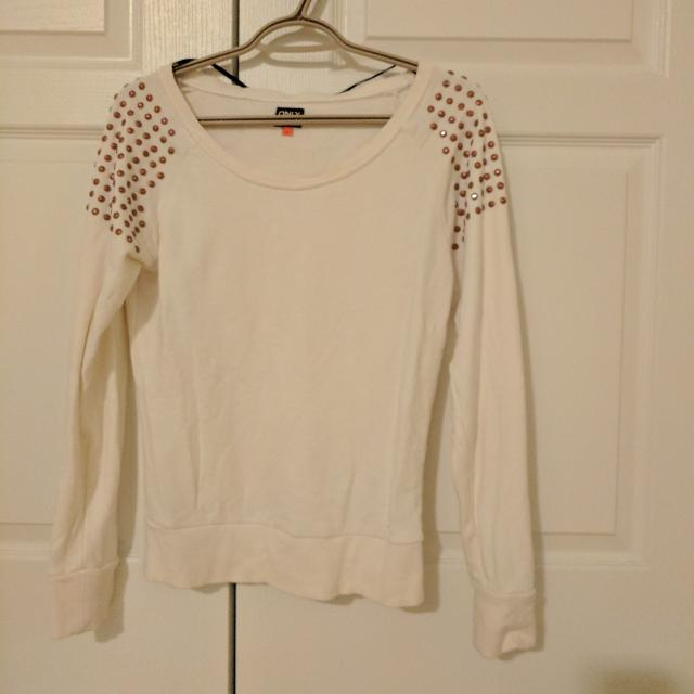 Off-white Sweater With Copper Studs