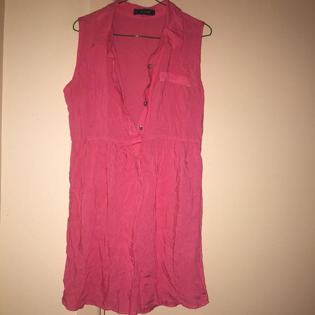 Pink Collar Dress
