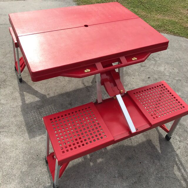 Peachy Portable Foldable Picnic Table With Chairs For Rent Download Free Architecture Designs Scobabritishbridgeorg