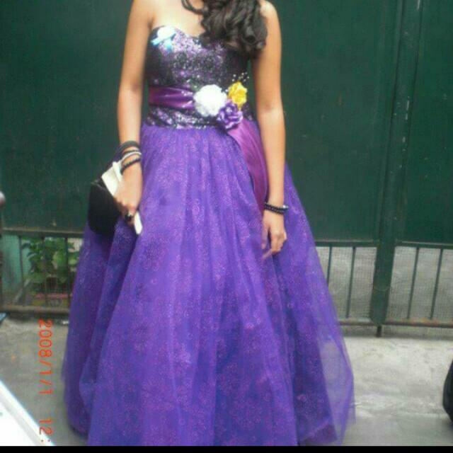purple ballgown (used once in prom)
