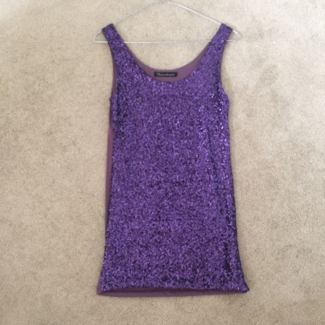 Purple Sequinned Dress