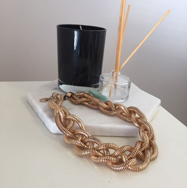 Rose Gold Chunky Necklace