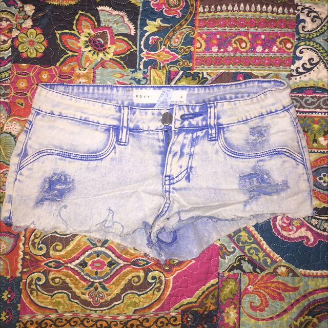 Roxy Tie-Dye Denim Shorts