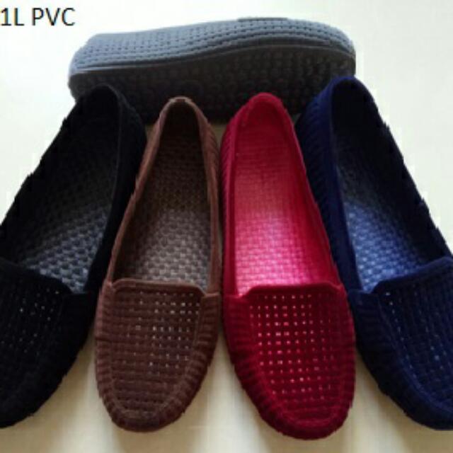Sepatu Balet Bludru Warna