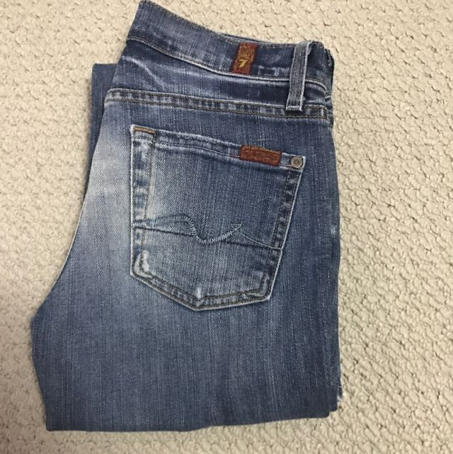 Seven For All Mankind 'flip Flop' Flared Jeans Sz 24