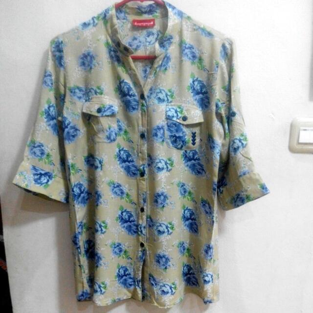 Flower shirt by Kuyagaya