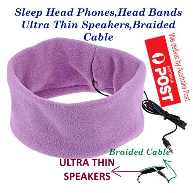 SleepPhones Headband Sleep Headphones With Ultra Thin Speakers and Braided Cable - LAVENDER