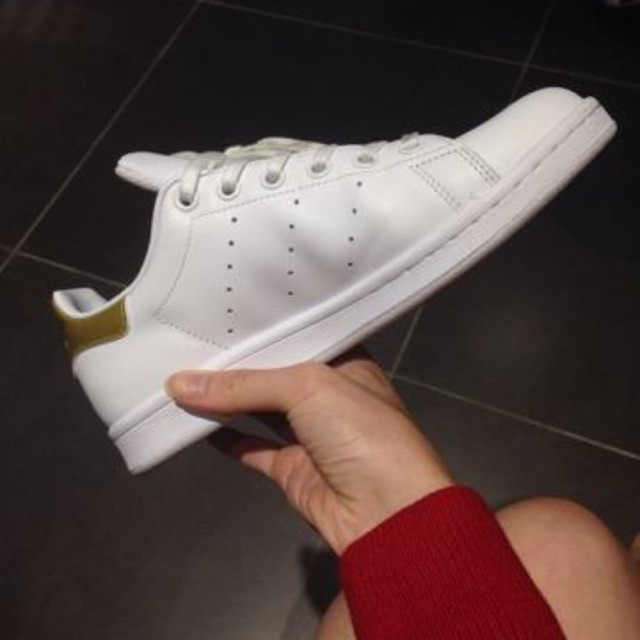 Stan smith Adidas (White and Gold) with Ortholite sole